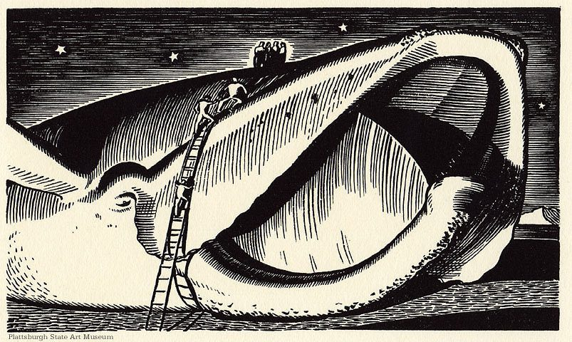 Rockwell Kent illustration for Moby Dick. Plattsburgh State Art Museum